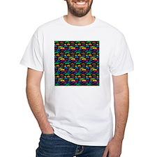 Mustache Color Pattern Black Shirt