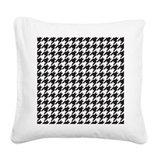 Houndstooth Square Canvas Pillow