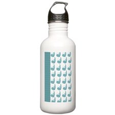 whale_notebook_pattern Water Bottle