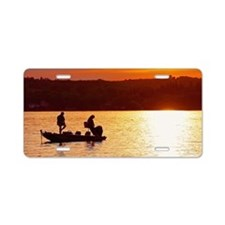 Anglers Aluminum License Plate