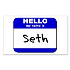 hello my name is seth Rectangle Decal