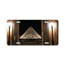 Louvre Aluminum License Plate