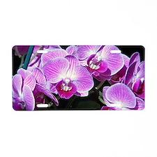 Purple orchids, Aluminum License Plate