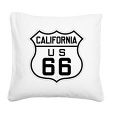 California US 66 sign Square Canvas Pillow