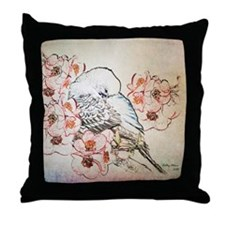Mousepad Parakeet 004 Throw Pillow