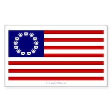 Pretzel Flag Rectangle Decal