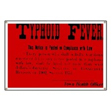 Typhoid Fever Warning Banner