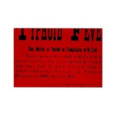 Typhoid Fever Warning Rectangle Magnet
