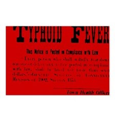 Typhoid Fever Warning Postcards (Package of 8)