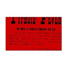 Typhoid Fever Warning Rectangle Car Magnet