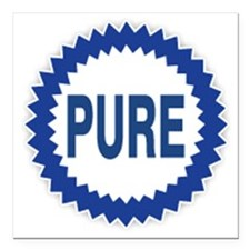 "Pure Gasoline Square Car Magnet 3"" x 3"""
