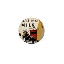 1935 Milk Ad Mini Button