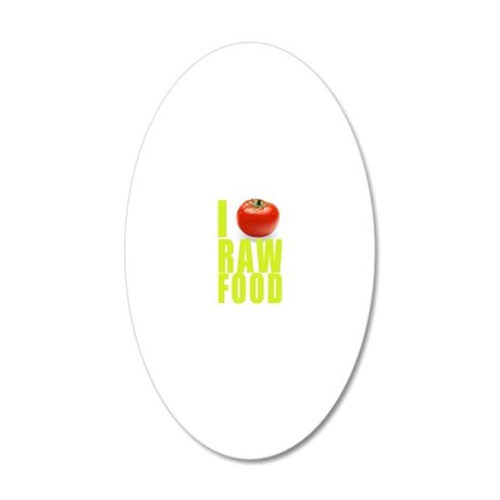 I tomato RAW FOOD 200DPI 20x12 Oval Wall Decal