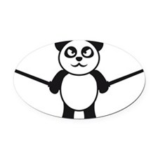 cute_panda_ninja Oval Car Magnet