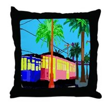 cable car duvet Throw Pillow