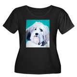 Havanese Dog Women's Plus Size Scoop Neck Dark T-S