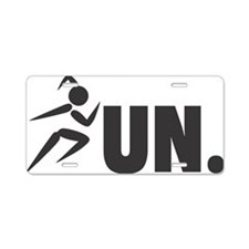 RUN. - Black Aluminum License Plate