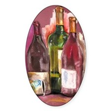 Wine Bottles Decal