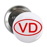 "VD Oval (Red) 2.25"" Button (100 pack)"