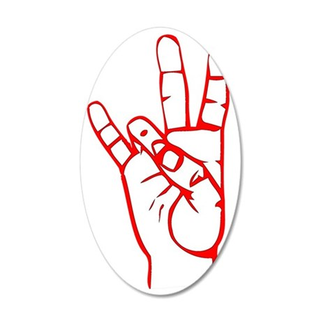 Sign Language 7 35x21 Oval Wall Decal