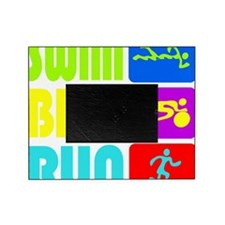 TRI Swim Bike Run Figures Picture Frame