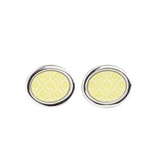 Light Yellow Damask Cufflinks