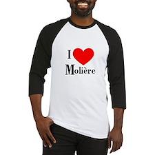 I Love Moliere Baseball Jersey
