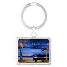Home is where we park it camper Landscape Keychain