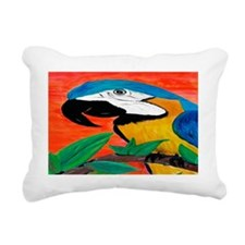 Parrot Head Rectangular Canvas Pillow
