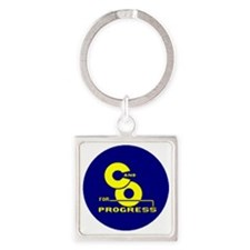chesapeake and ohio Square Keychain