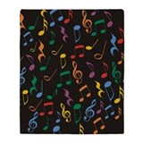 Music notes Fleece Blankets