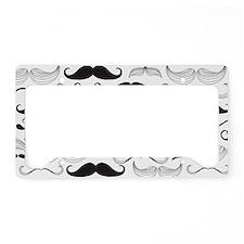 Mustache Black License Plate Holder