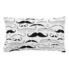 Mustache Black Pillow Case