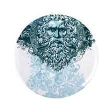 "Poseidon King of the Sea 3.5"" Button"