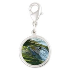 Nature Silver Round Charm