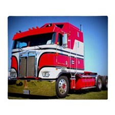 1985 Kenworth Cabover K100 Throw Blanket