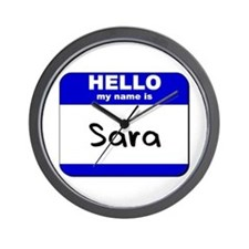hello my name is sara  Wall Clock