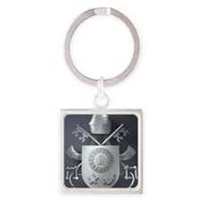 Pope Francis coat of Arms Square Keychain