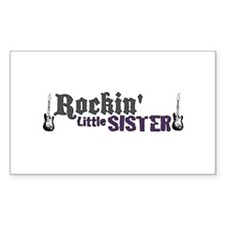 Rockin Little Sister Rectangle Decal