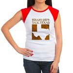 Talk Texas Women's Cap Sleeve T-Shirt