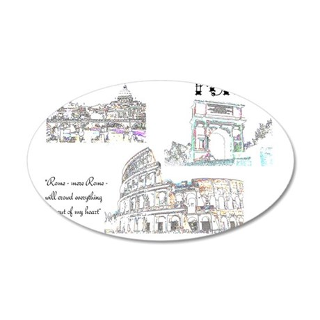 Rome (wide) 35x21 Oval Wall Decal