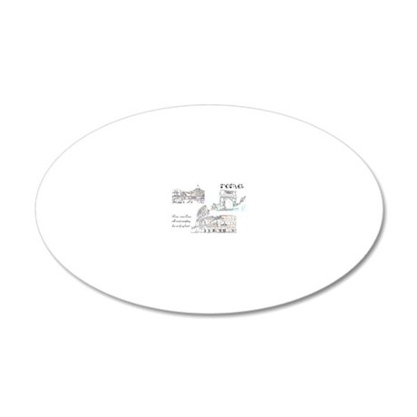 Rome (wide) 20x12 Oval Wall Decal