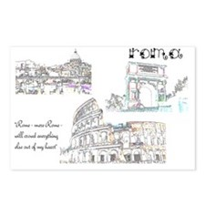 Rome (wide) Postcards (Package of 8)