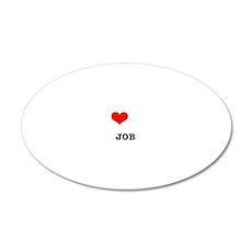 I love my dispatcher job 20x12 Oval Wall Decal