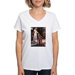 Accolade-AussieShep1 Women's V-Neck T-Shirt