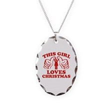 This Girl Loves Christmas Necklace