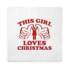This Girl Loves Christmas Queen Duvet