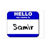 hello my name is samir  Postcards (Package of 8)