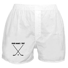 Custom Hockey Sticks Boxer Shorts