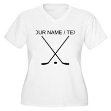 Custom Hockey Sticks Plus Size T-Shirt